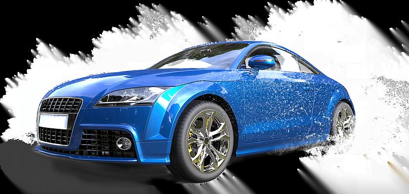 car getting a wash