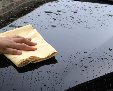 wash and drying a car